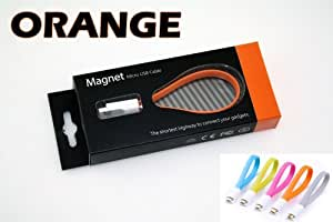 Micro USB Cable for Nokia X6 - VojoTech Magnet Micro USB Cable Orange