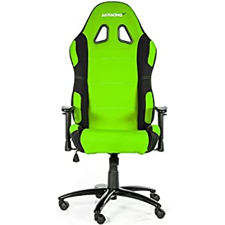 AK Racing 7018 – Silla para Gaming, color negro y verde