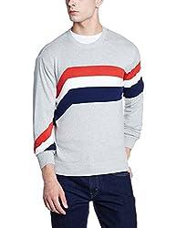 Wrangler Mens Cotton Sweater (8907649216248_W248925DH8ZA_XL_Grey Melange)
