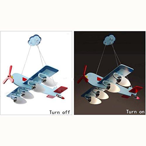 Guo Kinderzimmer-Lichter Jungen-Raum-Flugzeug-Lichter Kronleuchter-Pers5onlichkeit-kreative Lampen E14 Lampen-Hafen - 4
