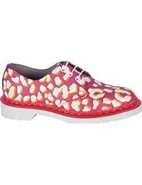Dr. Martens 1461Candy rosa + blanco + naranja leopardo piel zapatos 15106691