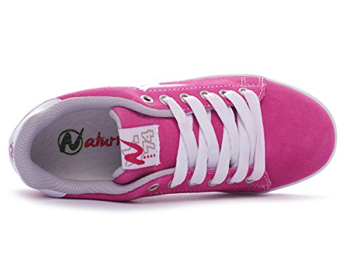 Naturino Sport 493 Velour/Sprint mädchen, , sneaker low Fuxia-Bianco