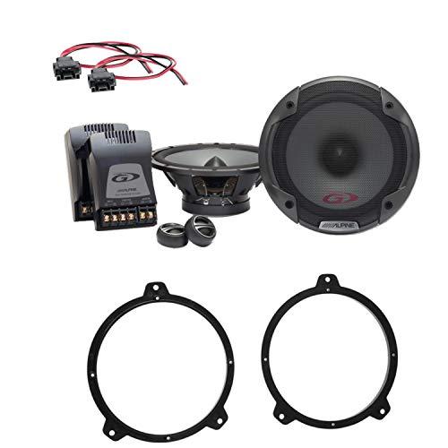 Alpine SPG-17CS 2-Wege Komponenten Lautsprecher System Einbauset für 3er E46 Limousine sowie Coupé und Touring Türen vorne