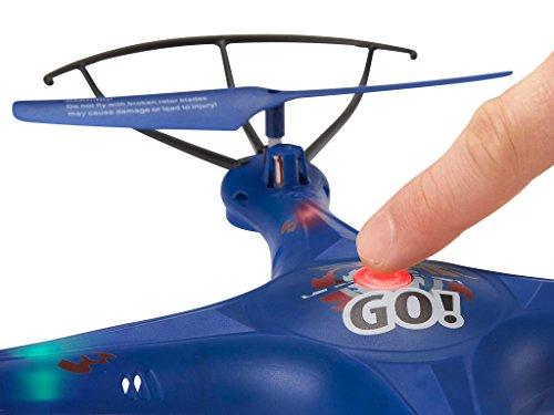 Revell Control RC Quadrocopter für Einsteiger, ferngesteuert mit 2,4 GHz Fernsteuerung, sehr einfach zu fliegen, Headless-Mode, äußerst robust, wechselbarer Akku, LED-Licht, Flip-Funktion - GO! 23877 - 2