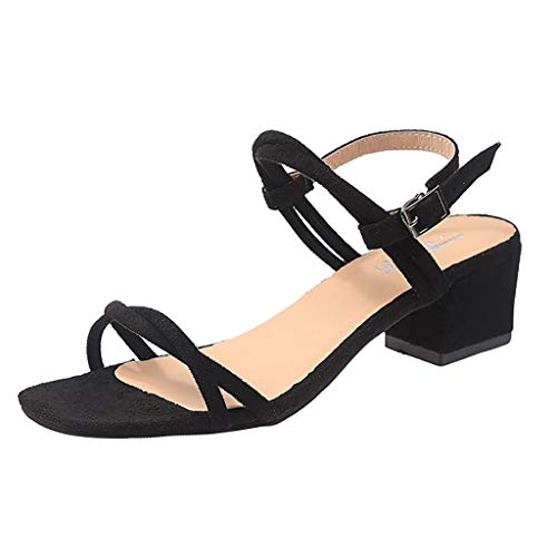 Zapatos Mujer Baile Latino, Correa de Hebilla de Mujer Sandalias Casuales Zapatos de Tacones Altos (Negro,Beige,Claro Azul), 35/36/37/38/39/40 EU