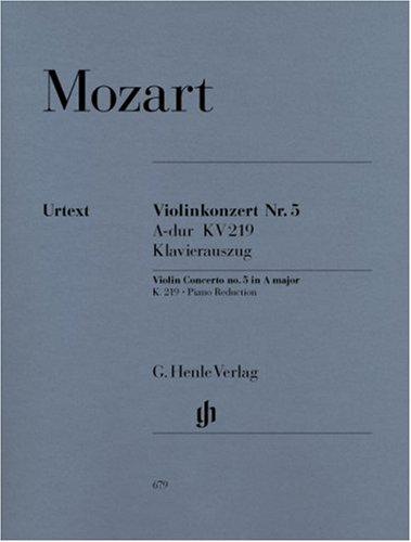 Konzert für Violine und Orchester A-dur KV 219. Violine und Klavier