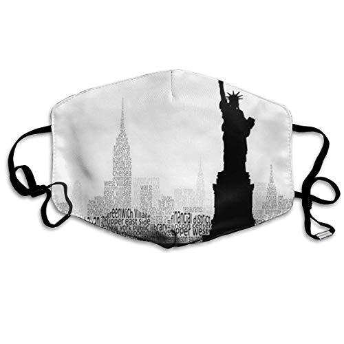 Daawqee Staubschutzmasken, York Skyline Anti Dust Face Mouth Cover Mask Respirator Cotton Protective Breath Healthy Safety Warm Windproof Mask (York Halloween In)
