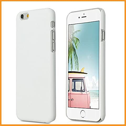 iPhone 6 6S (4,7 Zoll) dünne Hard-Case Hülle   Cover   Schutzhülle   Backcover   in matt Design   Weiss für iPhone6 iPhone6S   - Naruba Media (Hard Case