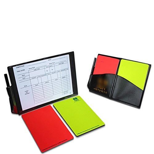 Ease Schiedsrichter Notebook Card Set, Fußball Schiedsrichter Rot und Gelb Karten Ersatz Karten Notebook Score Blatt
