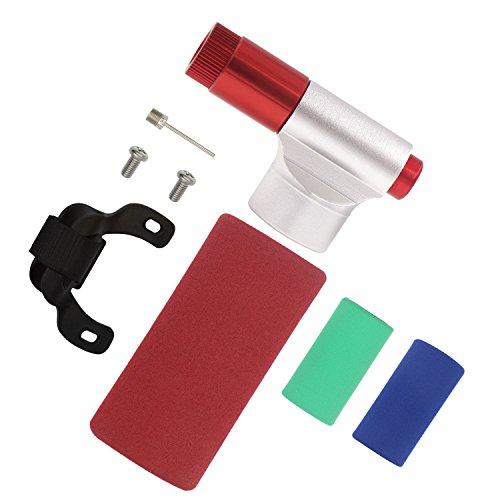 CO2 Pumpe DigHealth, CO2 Inflator für Presta & Schrader Ventil, Mini Fahrrad Luftpumpe für Rennrad, Tragbar Fahrradpumpe für Mountain-Fahrräder, Fahrradluftpumpen Isolierte Hülle, Keine CO2 Kartuschen