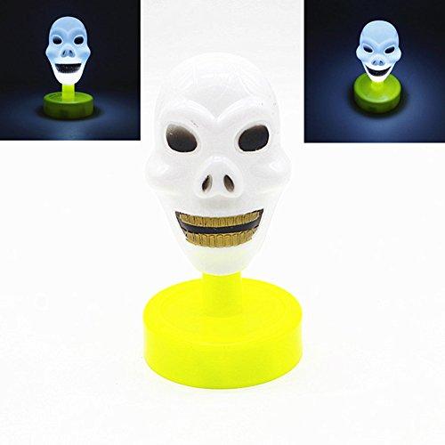 Zantec Halloween Ghost Head LED Lichter Glow Party Supplies Kinder Spielzeug Halloween Lustige Prank Requisiten (Ghost Das Film Kostüm)