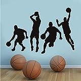 mmwin Basketball-Spieler Dunk Wandaufkleber Sport Reihe Von Aktionen Vinyl Wandtattoos Selbstklebende Tapete Wohnkultur Für Kinder R 86 * 58 cm