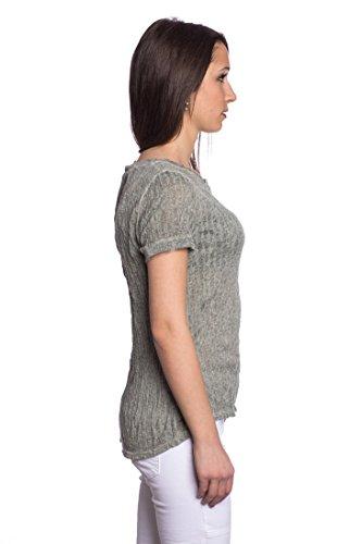 ... Size Khaki Grün. Abbino 8431-7 Shirts Tops Damen - Made in Italy - 6  Farben - Übergang