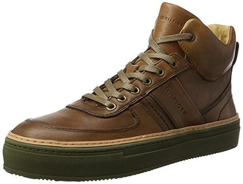 Tommy Hilfiger Herren B2285LANC 1A Sneaker Rollkragen, Braun (Cognac), 43