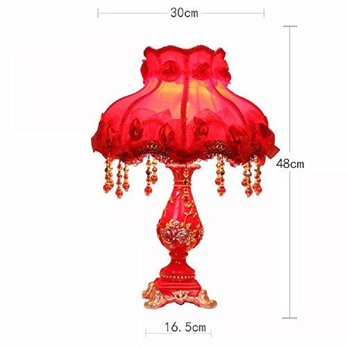 ZHGI Unione lampada da tavolo Lampada da giardino, Europeo camera da letto soggiorno comodino,D,L'interruttore di regolazione intensità luminosa