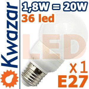 Super Led Lampe 36p E27 18w Ersetzt 20w Birne Warmweiss 144lm Hohe Qualitt Kugel von Kwazar