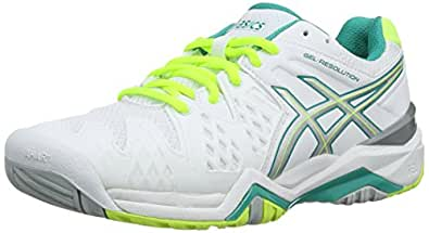 6 Green Resolution Blanc Tennis Gel Asics Femmes whiteemerald Z4wfx6