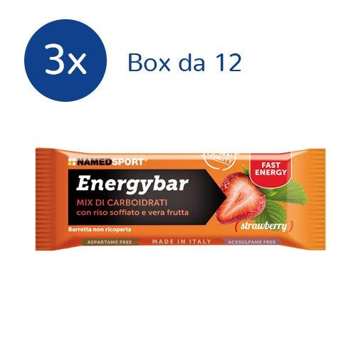 NAMEDSPORT 3x Energybar box da 12 barrette da 35 g. (GUSTO: STRAWBERRY) - 414IYYT59nL