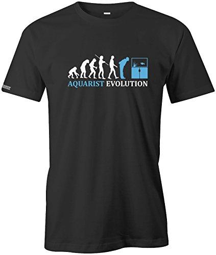 Aquarist Evolution - Tier Freund - Herren T-SHIRT Schwarz