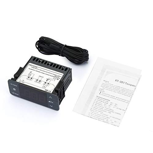 Noradtjcca Digitaler Temperaturregler Thermoregulator Thermostat Thermoelementfühler mit Kälte Abtauung 220V 10A -