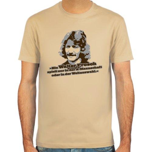 SpielRaum T-Shirt Walter Frosch ::: Farbauswahl: skyblue, sand oder weiß ::: Größen: S-XXL ::: Fußball-Kult