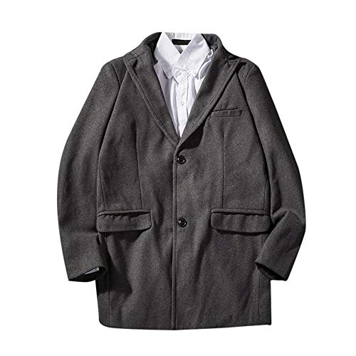 Herren Cardigan Coat,TWBB Winter Verdicken Mantel Lose Formal Passen Mit Knopf Outwear Pullover Persönlichkeit Lange Ärmel Hemd