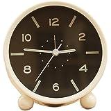 Brille dans la Nuit Réveil, non tic-tac Bureau Alarme Horloge avec aiguilles lumineuses, le meilleur pour enfants adolescent Table de nuit Chevet Deskside (Cs-ac03-u) (Noir)...