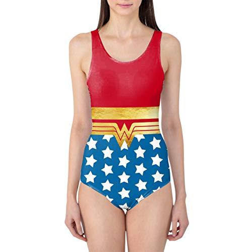 Queen of Cases Wonder Woman Super Hero Inspired Women's Swimsuit - 2XL Badeanzug (Wonder Woman Xxl)