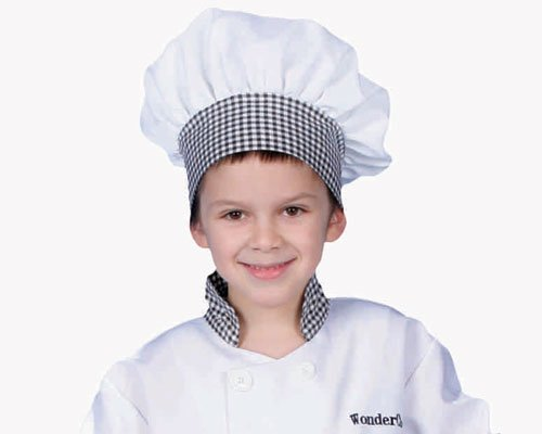 dress up America Gingham Chef Hat (Kostüme Baker Halloween)