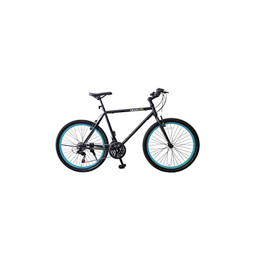 'City Bike Fahrrad Damen und Herren mit Rahmen aus Aluminium und Felgen 26Leuchtstofflampe XL blau