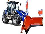 Vario Schneeschild Orange Euro-Aufnahme Breite 225cm Verstellung hydraulisch 7-Fach