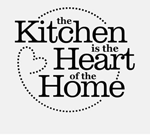 Wandaufkleber Schwarz Küche das Herz des Hauses Kreis Dot Wandkunst PVC Für Küche 48 CM * 42,6 CM -