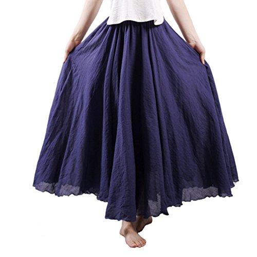 Ourlove Fashion Damen A-Linie Rock Navy