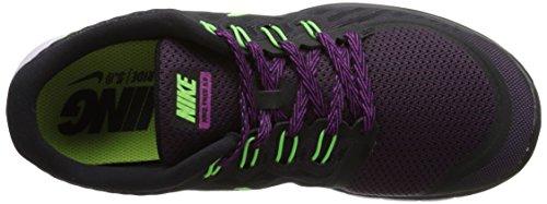 Nike Free 5.0 Scarpe da Corsa da Donna Multicolore (Black/Flash Lime-Fuchsia Flash)