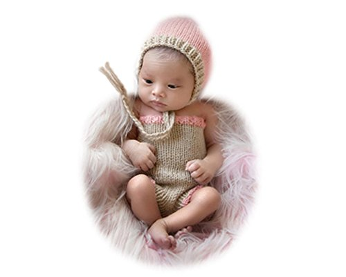 Handgefertigt Infant Newborn Baby Mädchen Boy Crochet Knit Mütze Hose Fotografie Requisiten OUTFITS (Girl Kostüm Lucky)