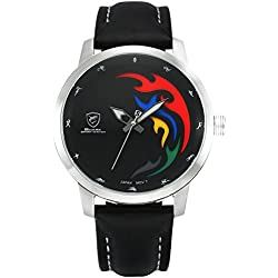 Shark Limited Series Sport Men's Wrist Watch Quartz Black Leather Band SH516