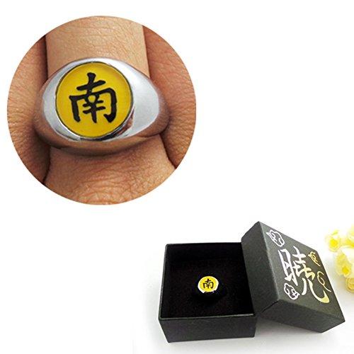 Loheag Clinor Naruto Akatsuki Ringe aus Metall für Cosplay und Sammlung (南 - Hoshigaki (Akatsuki Kisame Kostüm)