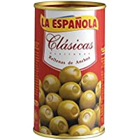 La Española - Aceitunas verdes rellenas de anchoa clásicas - 150 g - [Pack de 3]