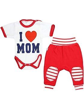 TupTam Unisex Baby Bekleidung mit Spruch 2er Set