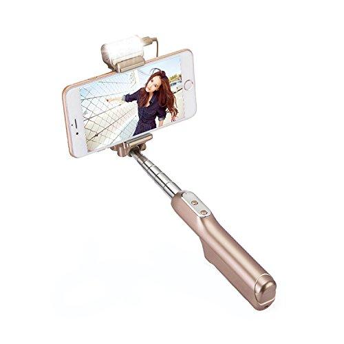 Selfie Stick, Cotop Bluetooth selfie Stick con 360 gradi Led
