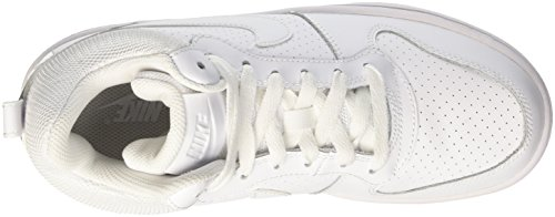 Nike Wmns Court Borough Mid, Chaussures de Sport-Basketball Fille Blanc (Weiß)