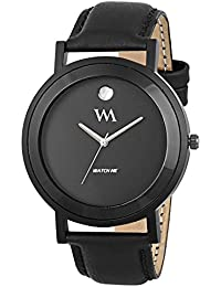 Watch Me All Black Collection Black Dial Black Leather Strap Watch For Men And Boys WMAL-330-M WMAL-330-Mrto5