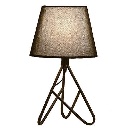 WYMI Trigémino de Hierro Forjado Lámpara de Mesa Vintage LED de ...