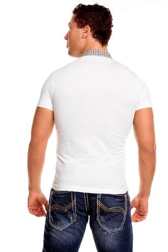 RedBridge Herren T-Shirt FLANGE RB-2008 Slimfit schwarz / weiß Weiß