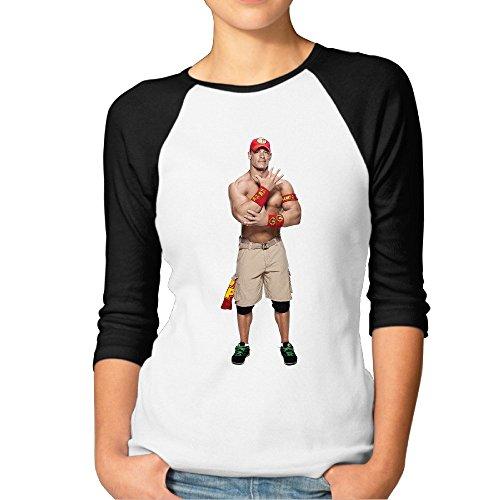 Damen WWE John Cena Raglan 3/4Dolce Vita Sleeve -