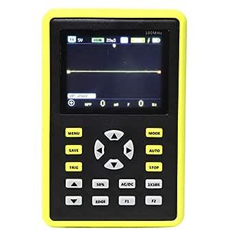 Datentester Akozon Handheld Usb Tragbares Ips Lcd Mini Digitales Oszilloskop Multimeter Tester Tool 100m Hz 500ms S Gewerbe Industrie Wissenschaft