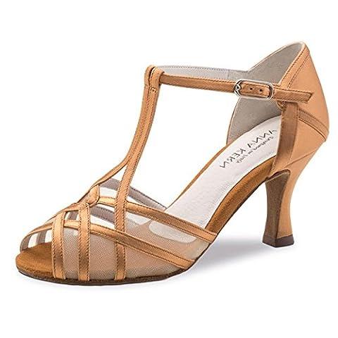 Anna Kern - Femmes Chaussures de Danse 640-60 - Satin Bronze - 6 cm [UK 3.5]