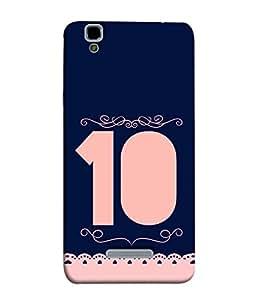 PrintVisa Two Digit Number 10 3D Hard Polycarbonate Designer Back Case Cover for YU Yureka :: YU Yureka AO5510