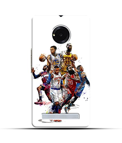 "NH10 DESIGNS 3D PRINTING DESIGNER HARD SHELL POLYCARBONATE ""BASKET BALL PLAYERS,JUMPERS,WINNER,PASSION,WHITE"" PRINTED SHOCK PROOF WATER RESISTANT SLIM BACK COVER MATT FINISH FOR MICROMAX YUPHORIA/MICROMAXYUPHORIA/MICROMAX YUPHORIA YUPHORIA"