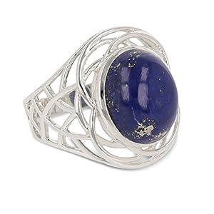 aden' S Jewels–Idee Geschenk femme-pierres fines-bague-lapis lazuli-argent massif-femme